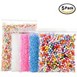 Foam Beads for DIY and Slime Supplies – Craft Styrofoam Balls 0.1-0.35 inch(31000pcs) for Kids Homemade Slime, Home Decorative, Wedding and Party Decorations (5 Pack)