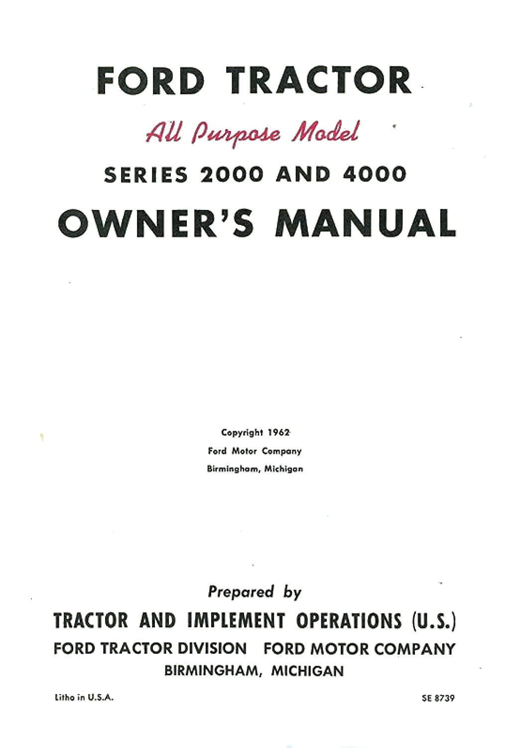Ford 3910 Manual Tractor Wiring Diagram Operator Owners Usa Coil Bound Garden Outdoor 1066x1500