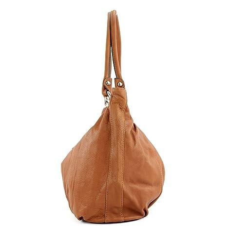 ital Ledertasche Damentasche Handtasche Schultertasche Tasche Nappaleder IT40