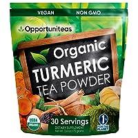 Organic Turmeric Tea Powder - Matcha Green Tea, Turmeric, Cinnamon, Ginger, Black...