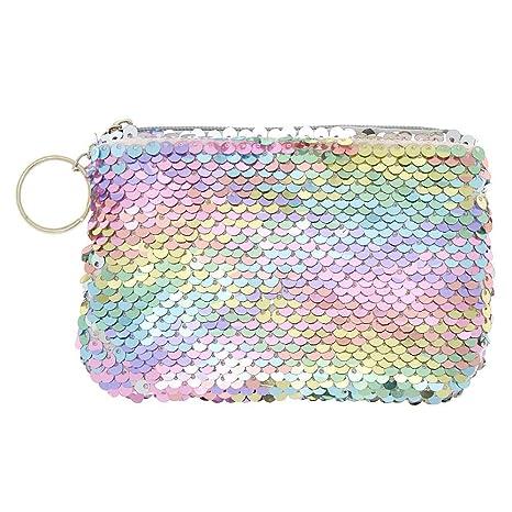 Claires - Monedero reversible de lentejuelas arcoíris ...