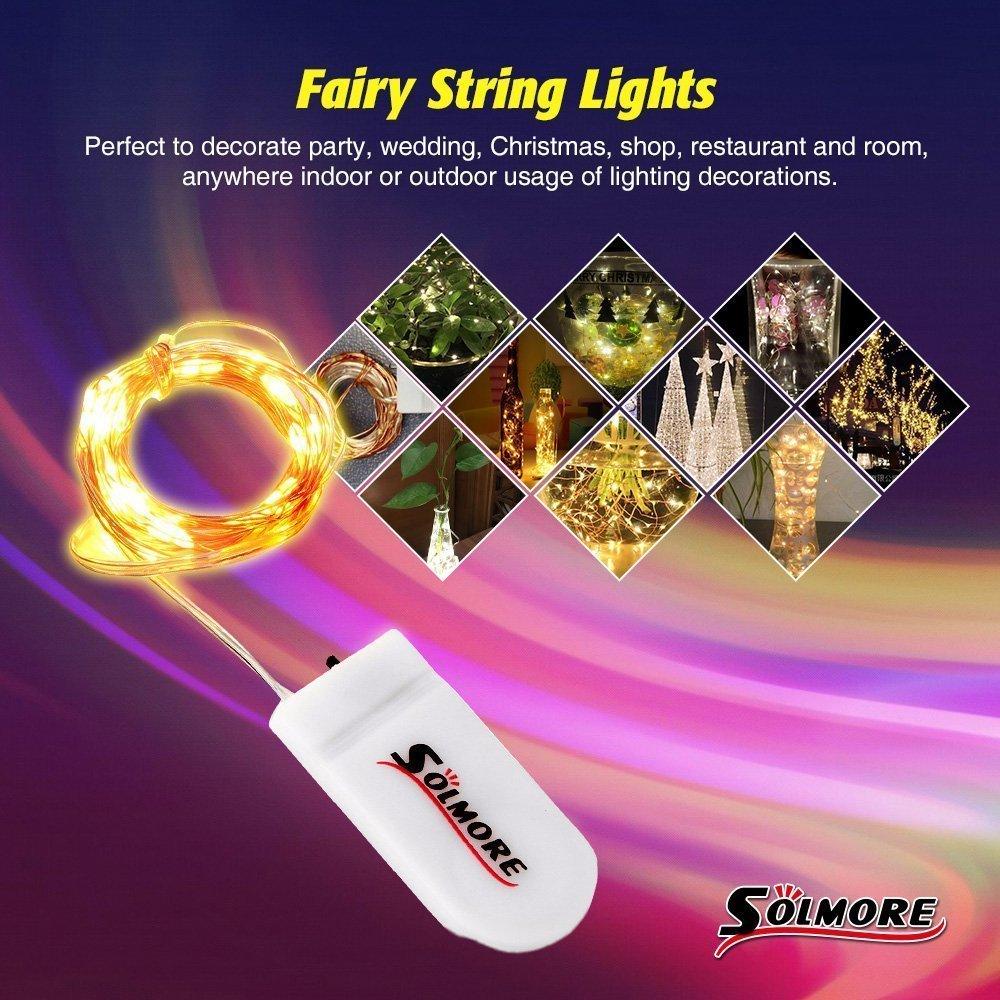SOLMORE LED Lichterkette Kupfer 20er 2M 8 Stück Batterie ...