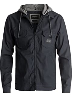 18a2c1e3b7a Amazon.com  Quiksilver Men s Everyday Brooks Hooded Cold Weather ...