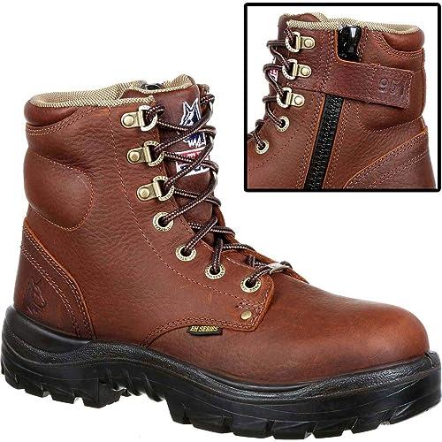 858c5c09 Amazon.com | STEEL BLUE Argyle Zip Steel Toe Work Boot Brown ...