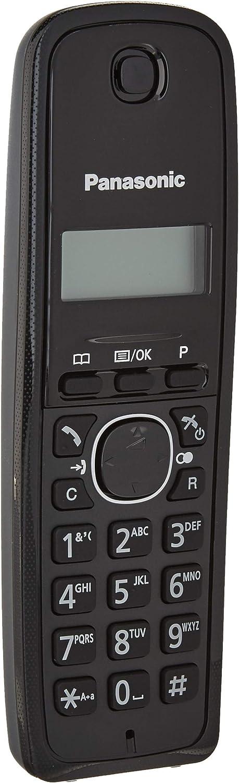 Panasonic KX-TG1611 - Teléfono (DECT, 50 entradas, Identificador de Llamadas, Versión Importada) Color Negro [Versión Importada]