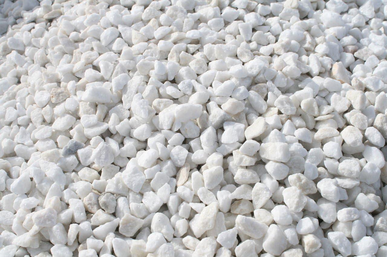 Grava Blanca jardin (Big bag de 1.000 kg.) (30-55 mm.): Amazon.es: Jardín