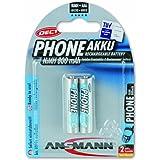 ANSMANN Akku Batterie für Schnurlostelefon Micro AAA 800mAh Phone DECT maxE noch mehr Power ohne Memory-Effekt geringe Selbstentladung LSD sofort einsatzbereit 2er Pack