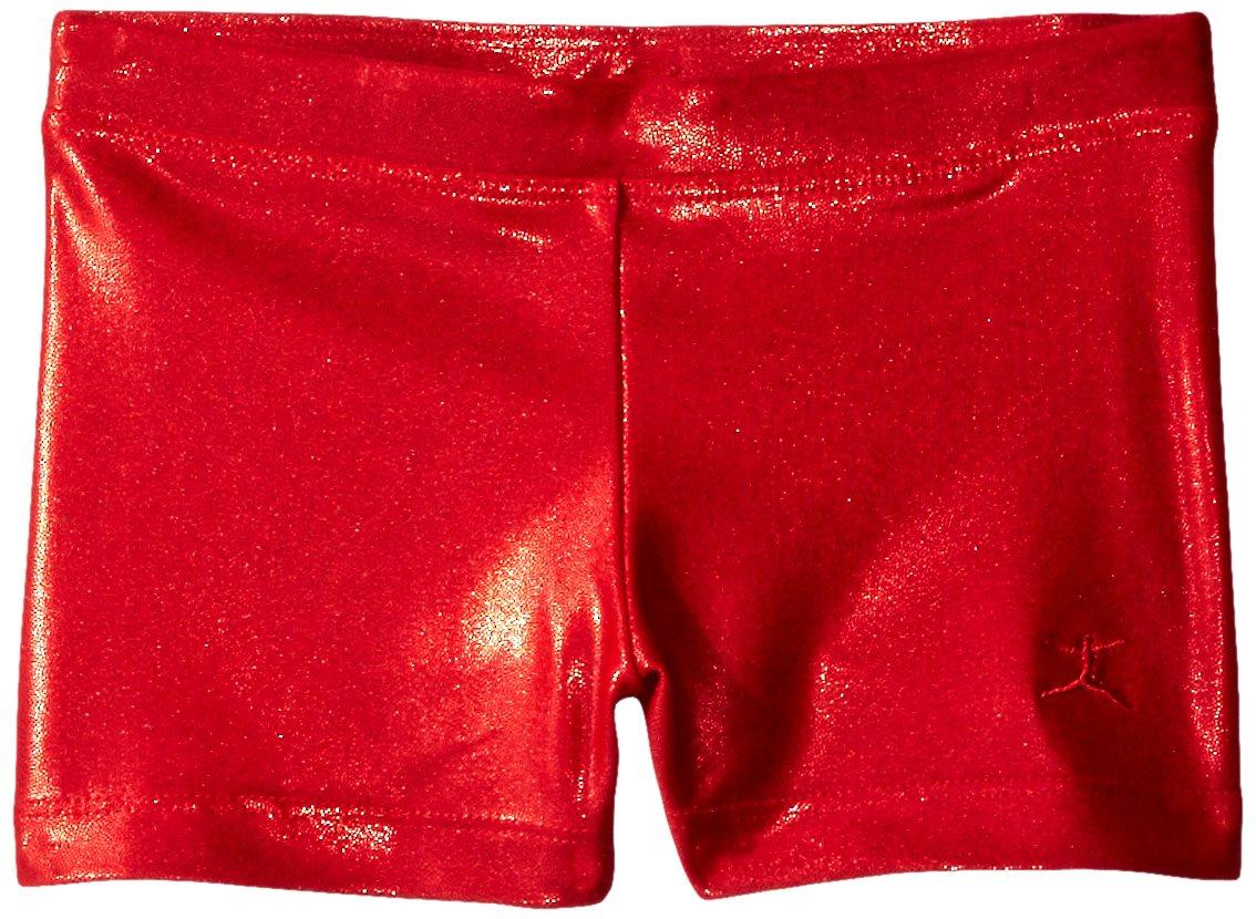 Danskin Little Girls' Gymnastics Basics Short, Red, Small