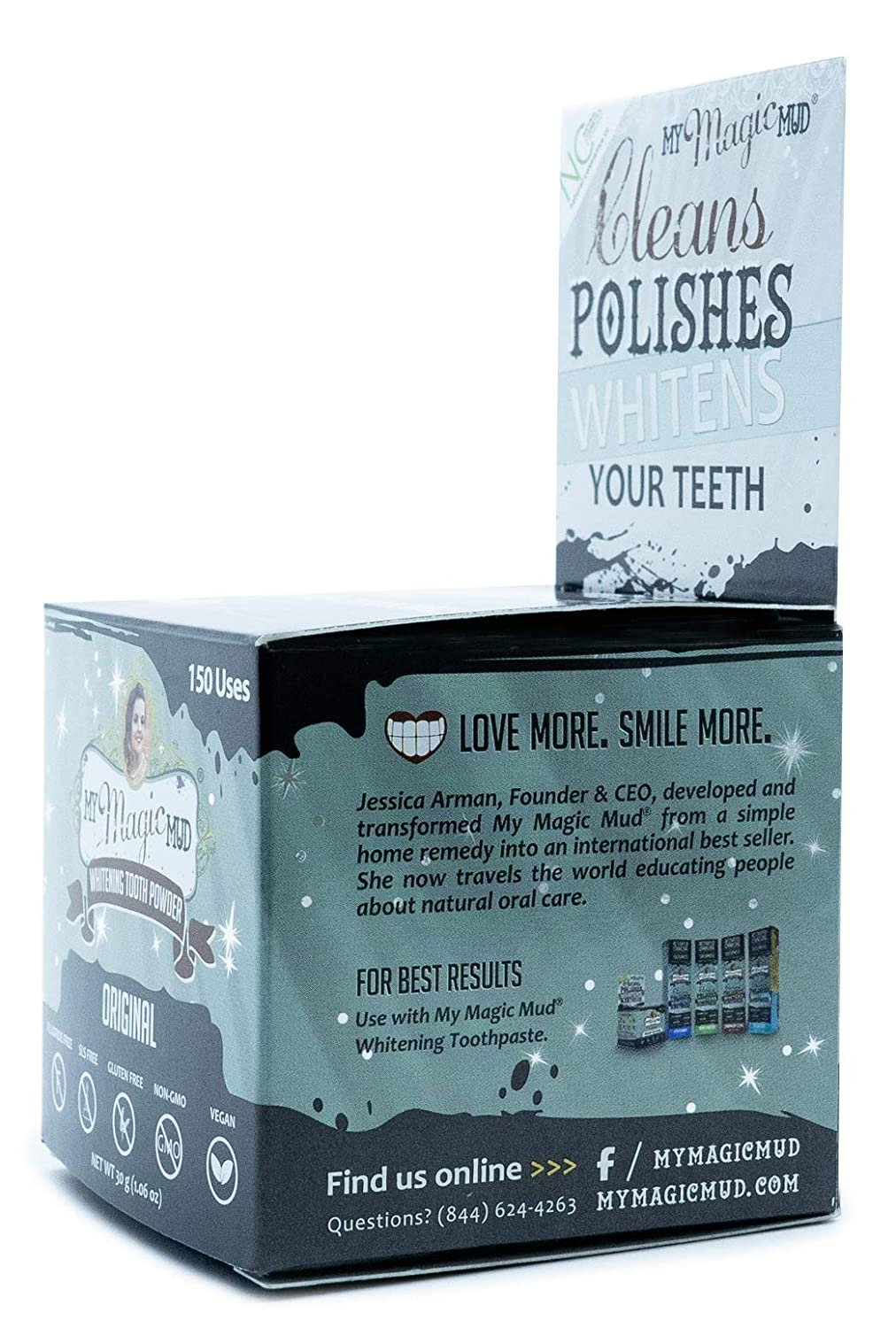 Amazon Com My Magic Mud Activated Charcoal Tooth Powder For