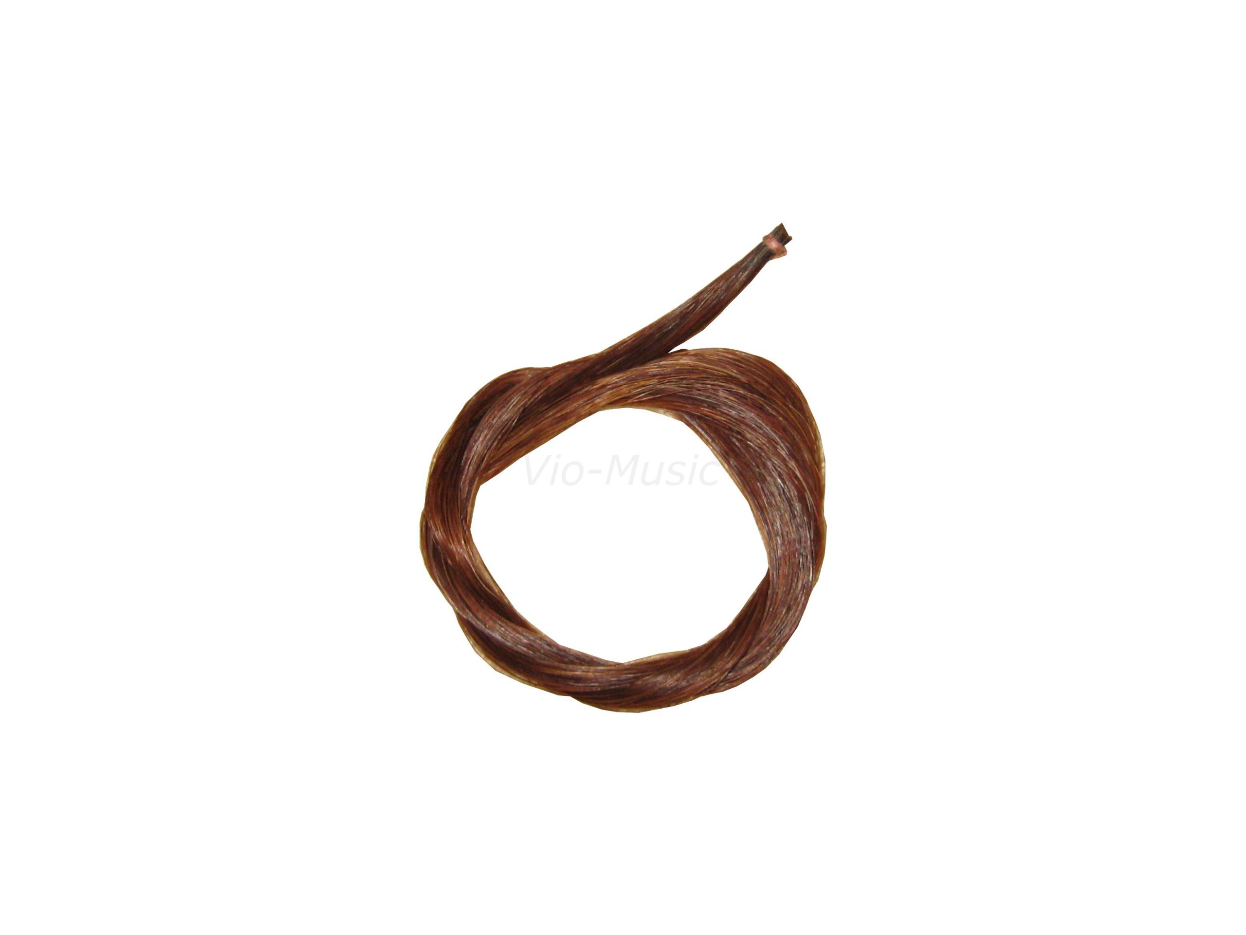 One Big Hank 32'' Brown Horse Hair for Bass or Cello Bow, Mongolian