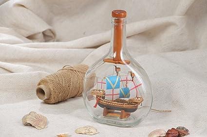 Amazon.com: Magnificent hecho a mano Botella de vidrio con ...