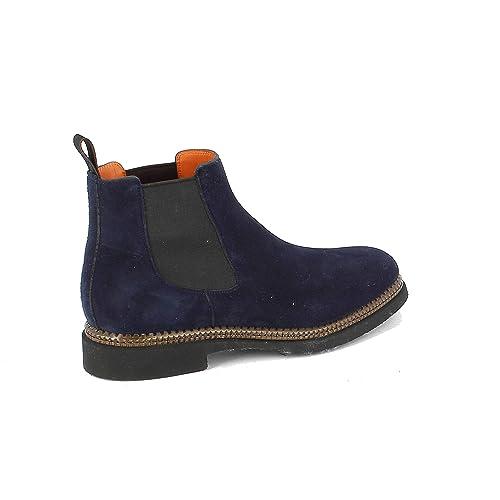 Santoni Hombre MGCO16352JZ5EUEEU55 Azul Gamuza Botines: Amazon.es: Zapatos y complementos