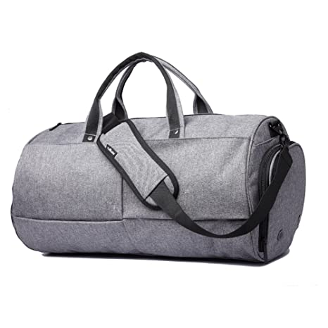 Bolsos de gimnasio 22L Sports Duffels Bag Bolsa de equipaje impermeable Cross-Body con compartimiento de zapatos para 17
