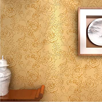 Amazon.com: Sssxka Wallpaper 3D Red Peony Flower Glitter ...