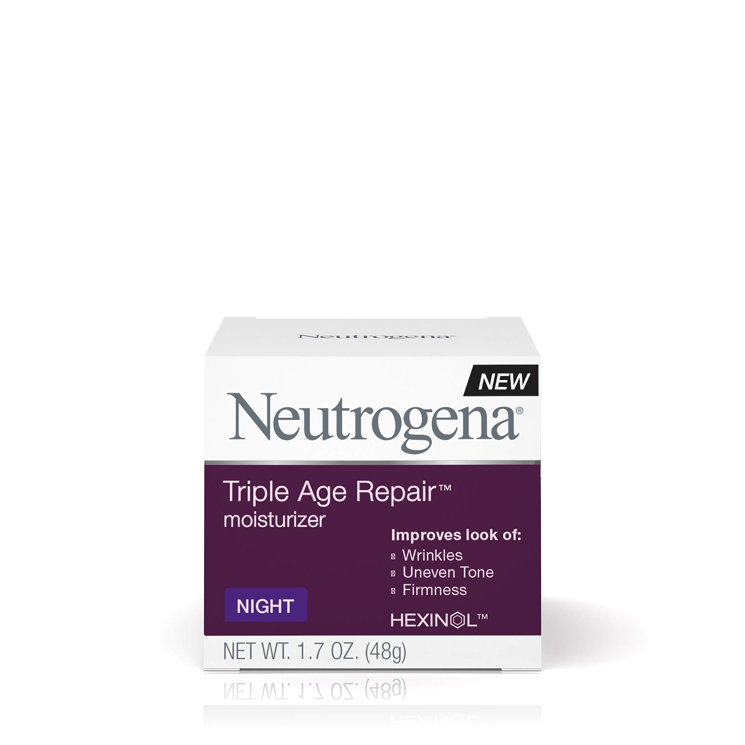 Neutrogena Triple Age Repair Anti-Aging Night Face Cream with Vitamin C to Fight Wrinkles & Even Tone, Dark Spot Remover & Firming Face & Neck Cream with Glycerin & Shea Butter, 1.7 oz by Neutrogena