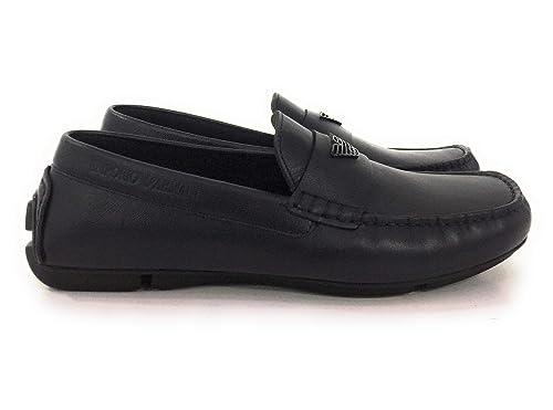 sports shoes ec70f e7246 Emporio Armani ,Mocassino Uomo in Pelle,Blu: Amazon.it ...