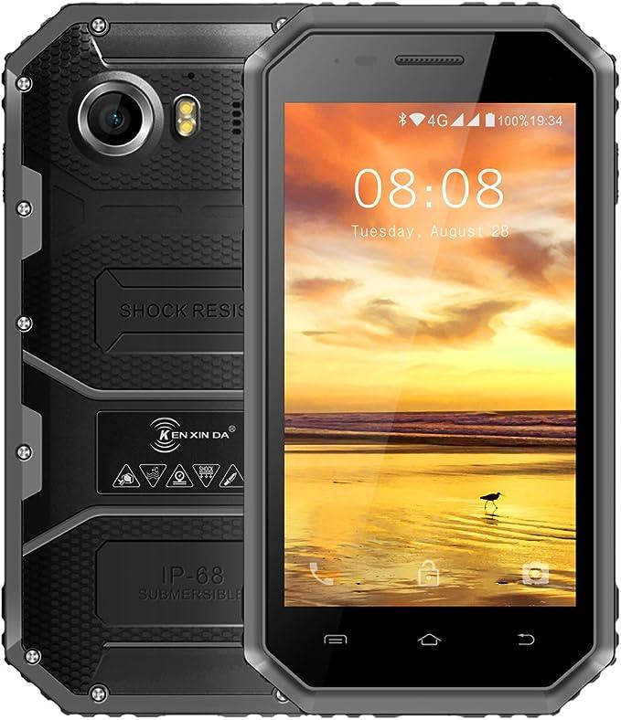 Telefonos Resistentes, KENXINDA W6 IP68 Smartphone libre: Amazon ...