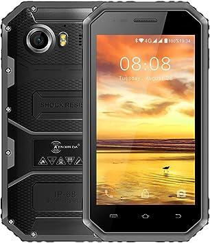 Telefonos Resistentes, KENXINDA W6 IP68 Smartphone libre: Amazon.es: Electrónica