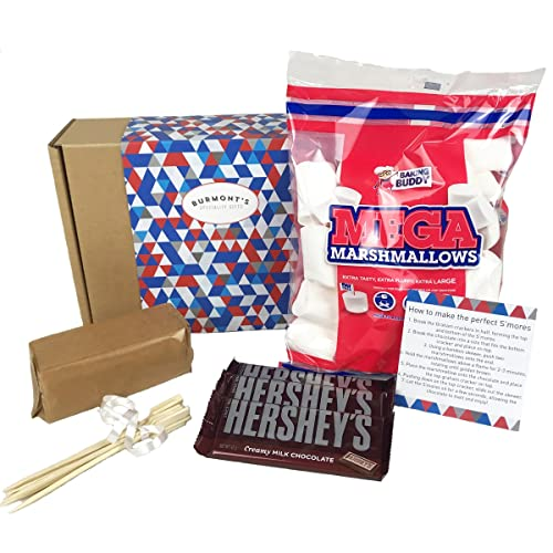 Marshmallow S'mores Ultimate Hamper - Everything You Need To Make Luxury American S'mores - Hamper Exclusive To Burmont's