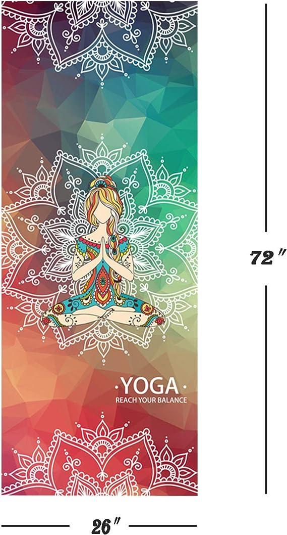Amazon.com: Esterilla de yoga toallas, puntos de silicona ...