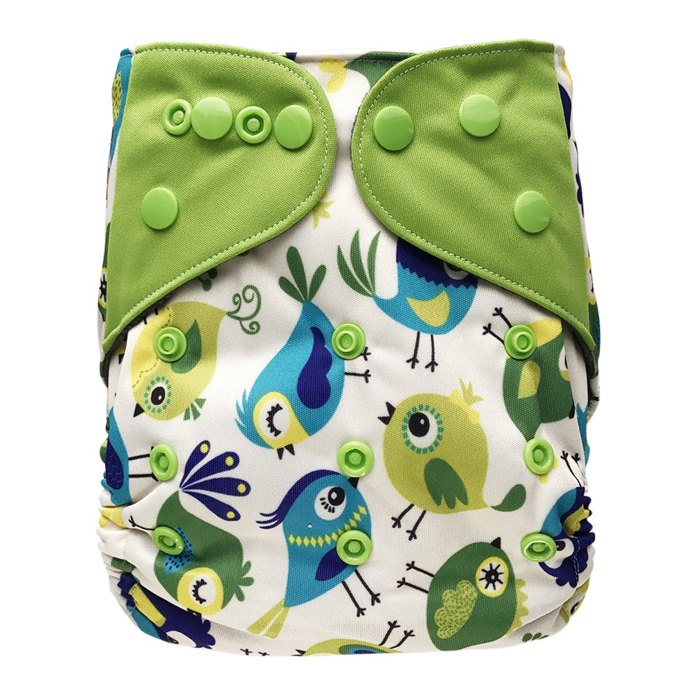 Baby Washable Ecological Diaper – with 2 Bamboo Inserts for Cloth Diapers (Tweet)