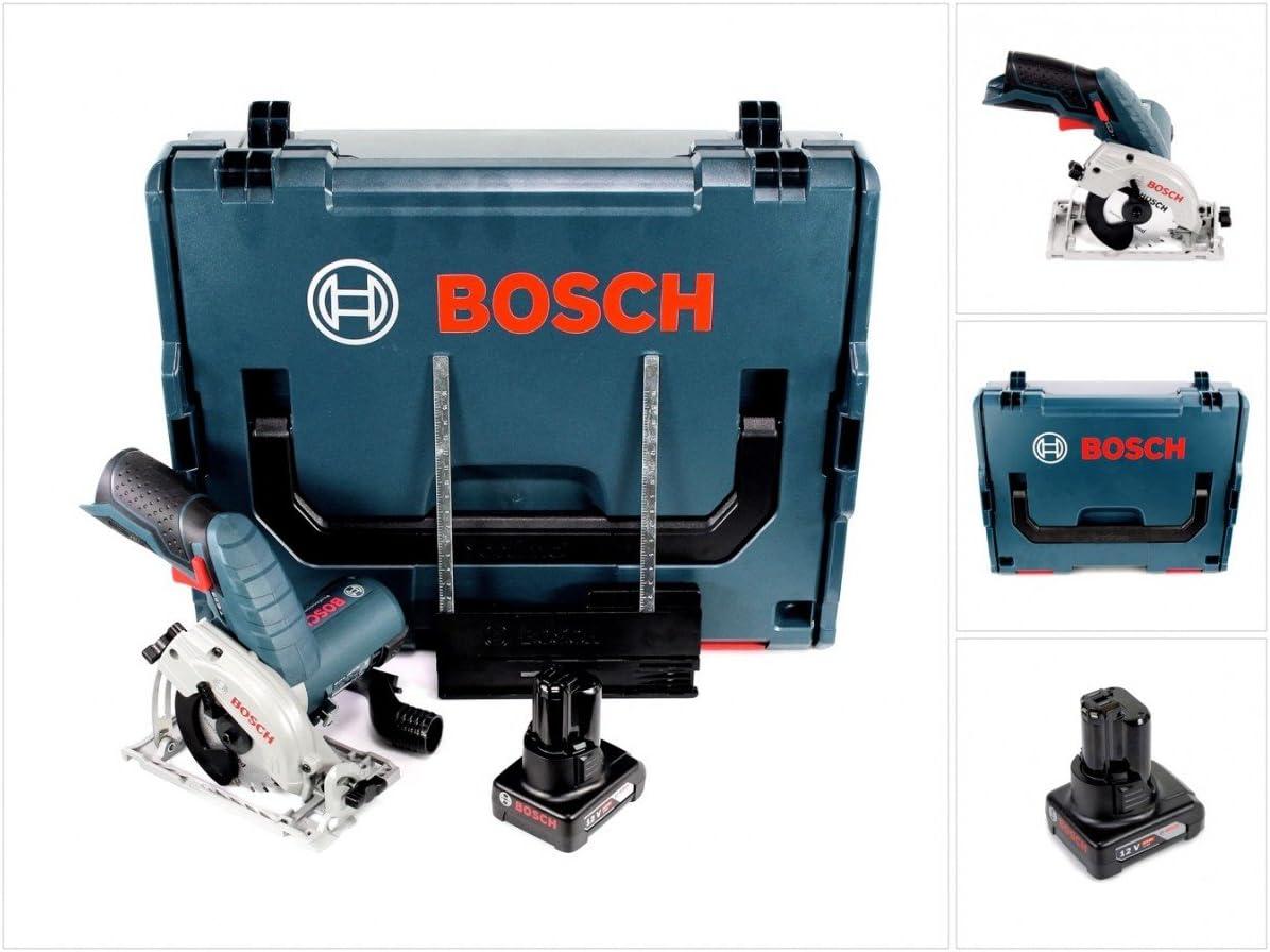 Bosch GKS 12V de 26Professional batería Sierra circular de mano 85mm en L-Boxx + 1x GBA 6,0Ah Batería–sin cargador