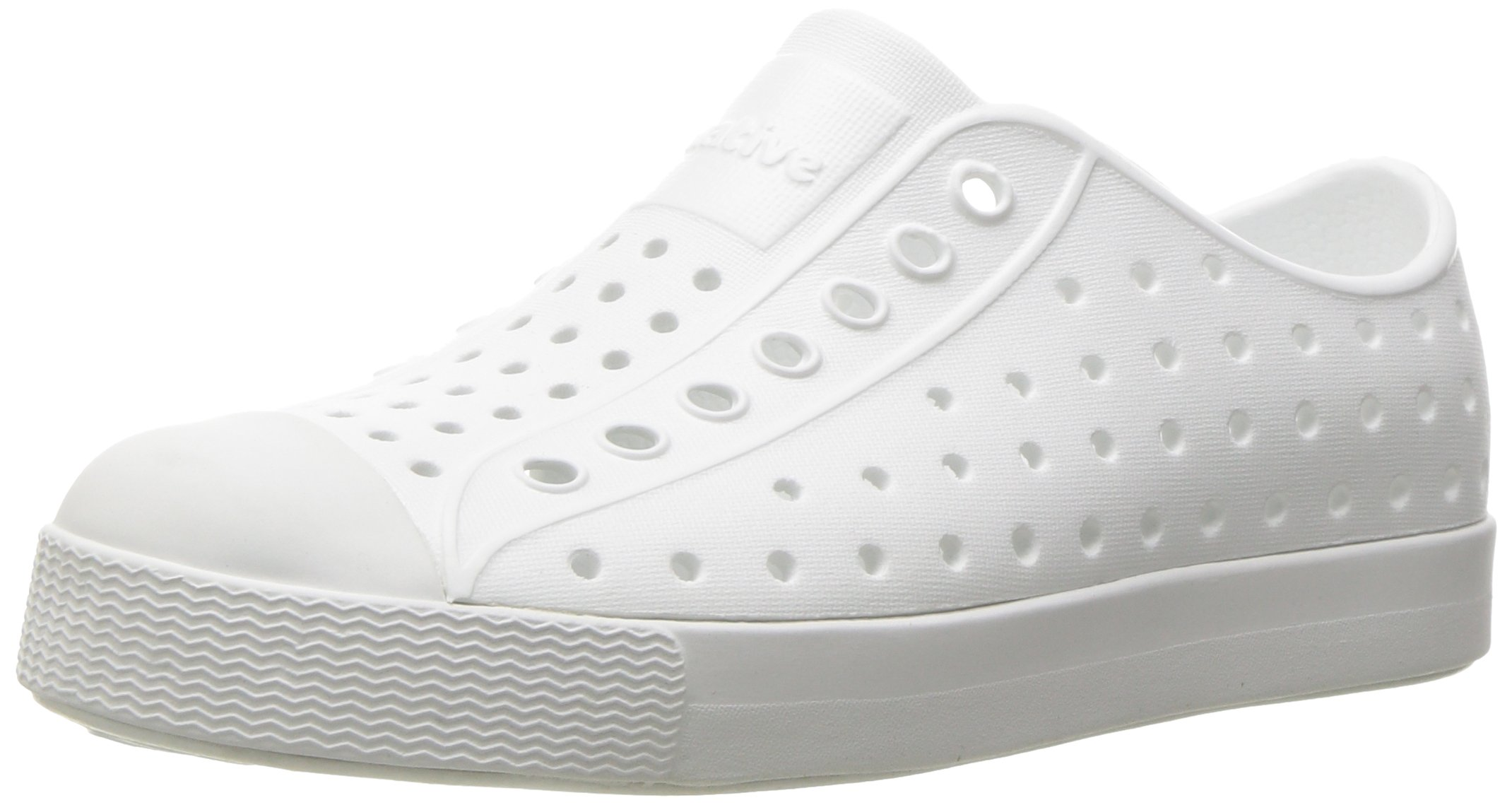 Native Kids Jefferson Junior Water Proof Shoes, Shell White/Shell White, 4 Medium US Big Kid by Native Shoes