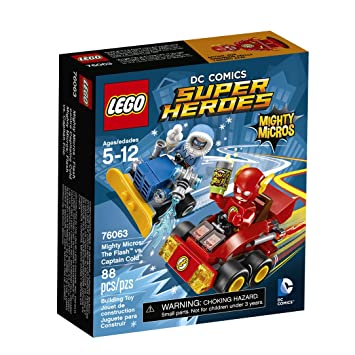 LEGO Super Heroes Mighty Micros: The FlashTM vs. Captain Co 76063 by LEGO: Amazon.es: Juguetes y juegos