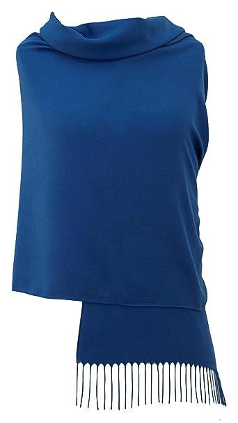 Pashminas & Wraps Azul Cobalto Pashmina - 34 Colores de Lujo y Magníficos Colores Para Elegir