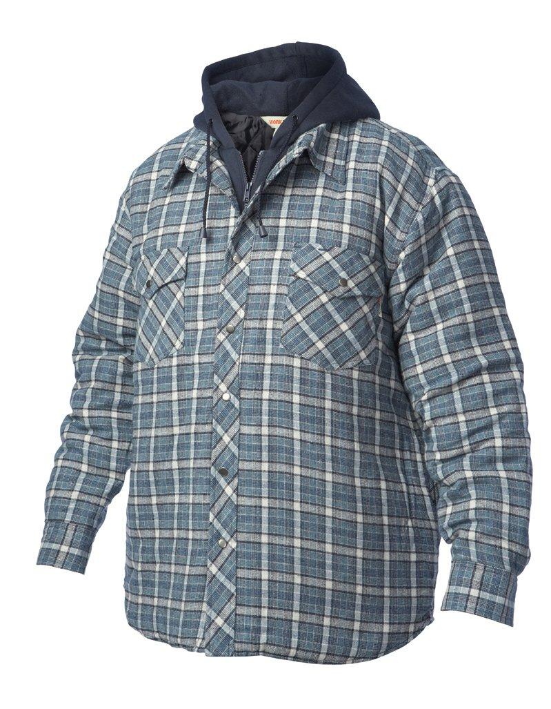Work King Men's Flnl Fooler Shirt Hood Outerwear, Astonished, M Richlu Manufacturing i6u511