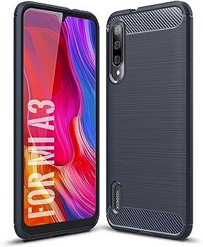 SCL Funda Xiaomi A3 Funda Xiaomi Mi A3 Funda, Exquisite Cubierta Protectora de Fibra de Carbono con Tecnología Antiarañazos y Absorción de Impactos para Xiaomi Mi A3 (Azul): Amazon.es: Electrónica
