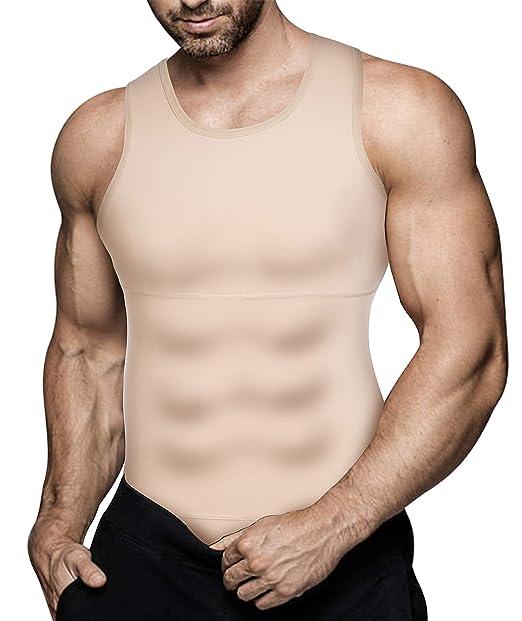 Amazon.com: Camisa de compresión para hombre, para adelgazar ...