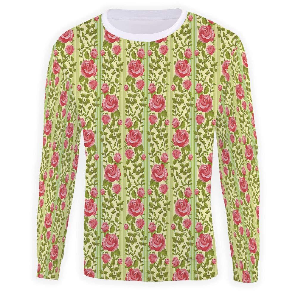 Mens Floral Crewneck Sweatshirt-Unisex