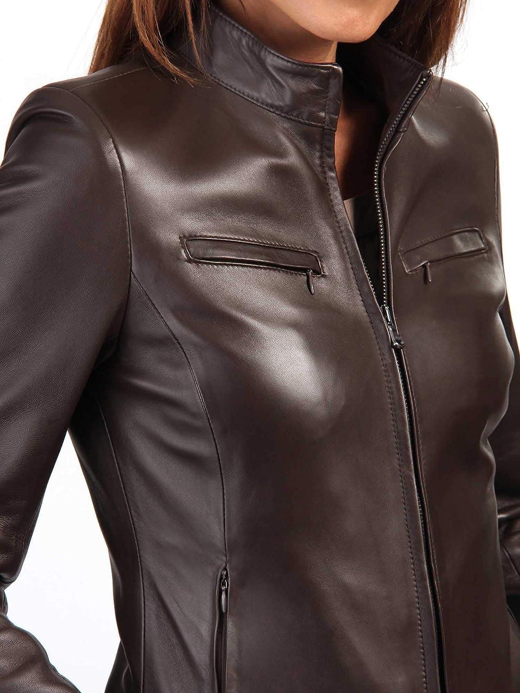 Koza Leathers Womens Lambskin Leather Biker Jacket KN307