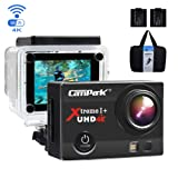 Campark 4K Action Cam WIFI Sport Action Camera Full HD 16MP 170° Grandangolare 2.0 Pollici (Custodia Professionale + Batteria di Ricambio)