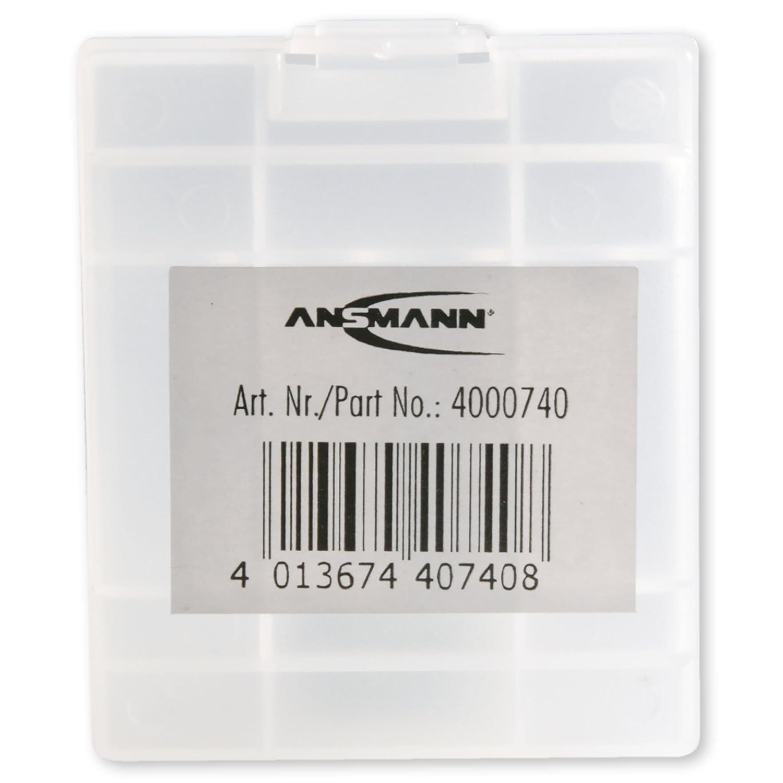 Custodia per Protezione e Trasporto ANSMANN Premium Box per Max 4 Batterie Mignon AA oppure Micro AAA Box