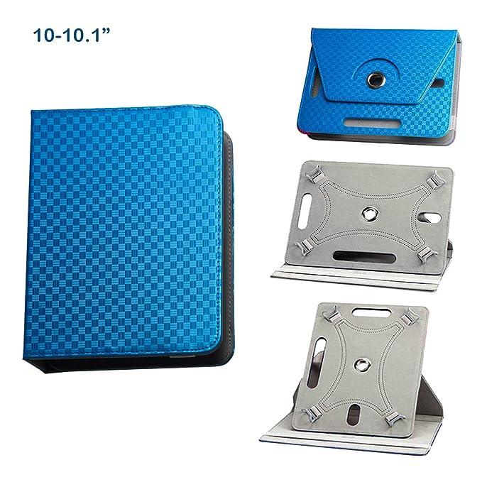 BEISK Funda para Tablet 10.1 Pulgadas con Sistema Giratorio de 360 Grados para Huawei Mediapad/Samsung Galaxy Tab/Lenovo TAB4 10 etc,Color Azul