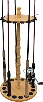 Creations Round 16 Fishing Rod Storage Rack Features Traditional Handcrafted