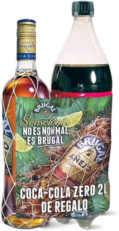 Brugal Pack Regalo 1 x Botella Ron Añejo 1 L+ 1 x botella ...
