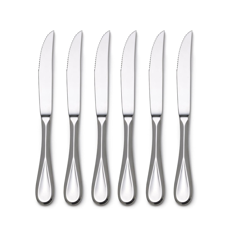 amazon com mikasa bravo stainless steel steak knife set of 6 amazon com mikasa bravo stainless steel steak knife set of 6 kitchen dining