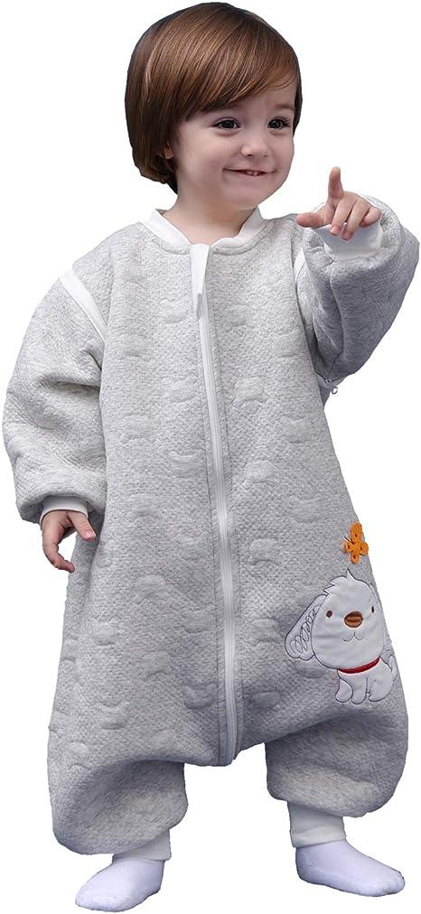 Saco de dormir para bebé, de manga larga, para invierno, con diseño de perro, saco de