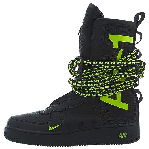 a232a87de912cc Nike Mens SF Air Force 1 HI Shoes Black Volt AA1128-001 Size 9