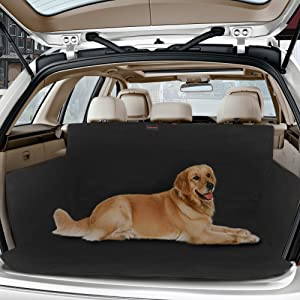 Black Rear Seat Cover Dog Pet Boot Hammock For Audi A6 Allroad Estate 2012 On