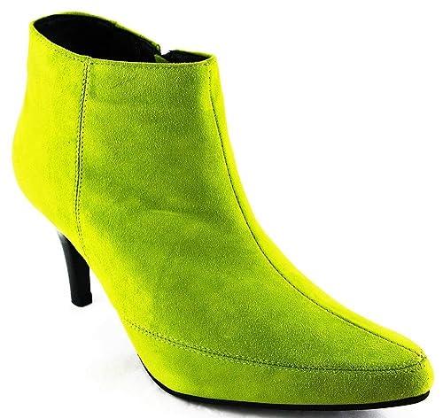 Andrea Conti PATRIZIA dini by Invierno Zapatos Botas Botines piel verde 2160, color Verde, talla 39: Amazon.es: Zapatos y complementos