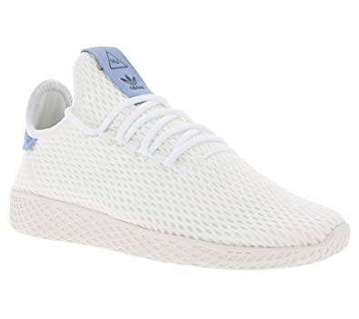 0f7e6f12e adidas Originals Pharrell Williams Tennis Hu White Blue Textile 3.5 M US  Big Kid
