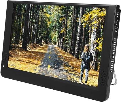 Garsent TV Digital portátil de 12 Pulgadas, DVB-T/T2 1080P 16: 9 LED Mini TV Compatible con Puerto VGA/AV/HDMI/USB/SD/MMC con Adaptador de Encendedor de Cigarrillos para Autos domésticos,110-220V: Amazon.es: Electrónica
