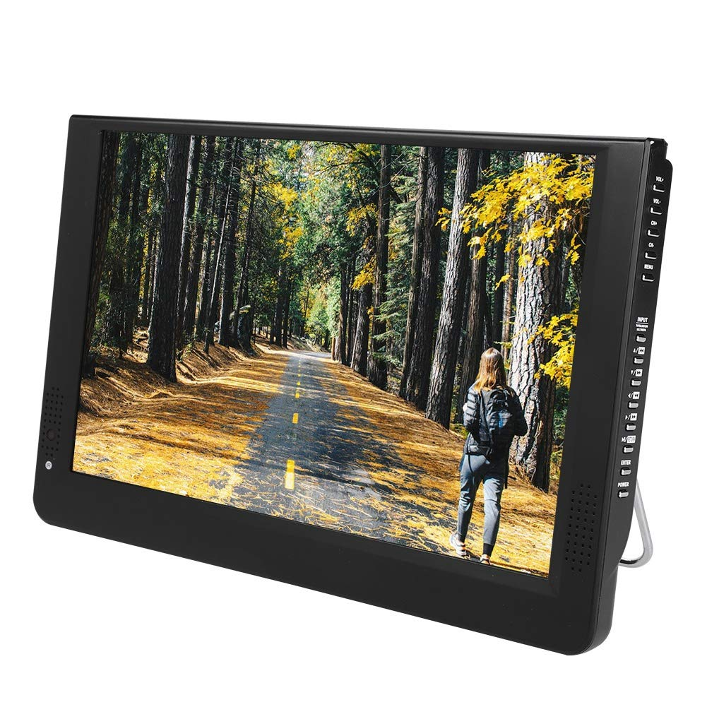 Zopsc The New 12-Inch Portable Widescreen TV,Smart Rechargeable Battery Wireless Car Digital TV, USB Port, SD/MMC Card Slot,Built in Digital Tuner, and AV Inputs by Zopsc