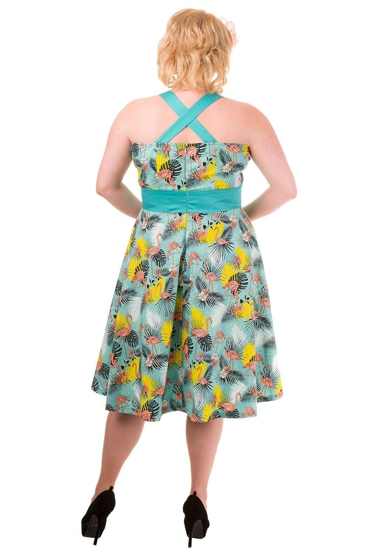 Banned Apparel - Women's Wanderlust Halter Green Rockabilly Dress