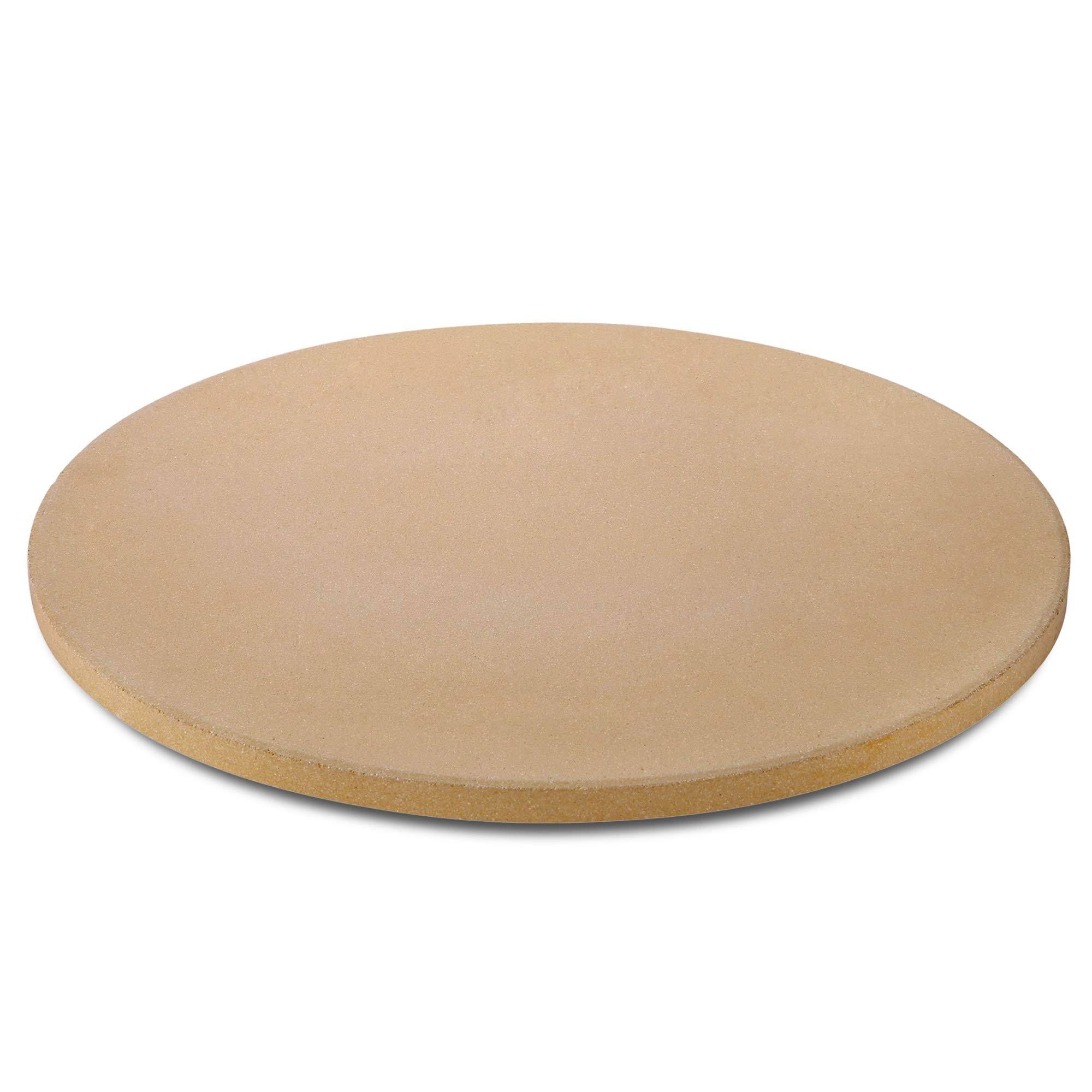 UNICOOK Heavy Duty Ceramic Pizza Grilling Stone, 15 Inch Round Baking Stone, Pizza Pan, Perfect for Oven, BBQ and Grill, Thermal Shock Resistant, Durable and Safe, 6.5lbs by Unicook