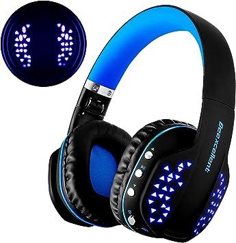 Auriculares Bluetooth inalámbricos, ultraligeros, con luz led, antirruido, estéreo, Bluetooth 4.1 CSR, señal estable: Amazon.es: Electrónica